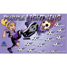 Purple Lightning 3 Custom Vinyl Banner