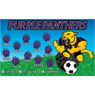 Purple Panthers (Kicking) Custom Vinyl Banner