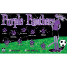 Purple Panthers Custom Vinyl Banner