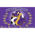 Purple Pythons Custom Vinyl Banner