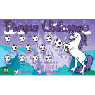 Purple Unicorns Custom Vinyl Banner