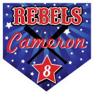 Rebels Home Plate Individual Team Pennant
