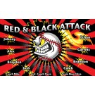 Red and Black Attack Custom Vinyl Banner