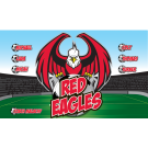 Red Eagles Custom Vinyl Banner