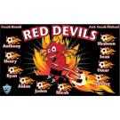 Red Devils Custom Vinyl Banner