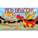 Red Dragons (Alternate) Custom Vinyl Banner