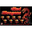 Red Dragons (Flames) Custom Vinyl Banner