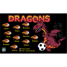 Dragons Custom Vinyl Banner (Purple)