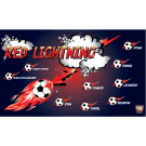 Red Lightning Custom Vinyl Banner
