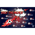 Red Thunder Custom Vinyl Banner
