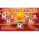 Red Volcanoes Custom Vinyl Banner