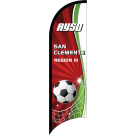 AYSO Region 3 San Clemente Custom Double-Sided Team Wind Flag