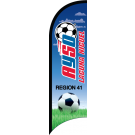 AYSO Region 41 Laguna Nigel Custom Double-Sided Team Wind Flag