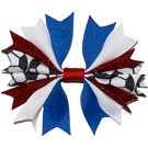 Red, White & Royal Blue Ponytail Holder