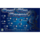 Royal Blue Dragons 2 Custom Vinyl Banner