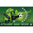 Attacking Ninja Geckos Custom Vinyl Banner