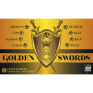 Golden Swords Custom Vinyl Banner