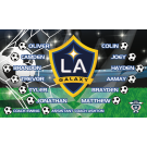 LA Galaxy (Boys) Custom Vinyl Banner
