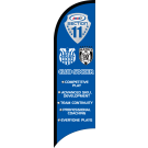 AYSO Section 11 Club Soccer Custom Double-Sided Team Wind Flag