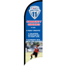 "AYSO Section 11 ""Community Enriched"" Custom Double-Sided Team Wind Flag"
