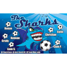 The Sharks (Blue) Custom Vinyl Banner
