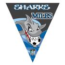 Sharks Triangle Individual Team Pennant