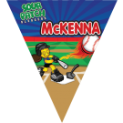 Sour Patch Sluggers Triangle Individual Team Pennant