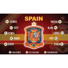 Spain National Team Custom Vinyl Banner