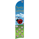 Sparkly Ladybugs Custom Double-Sided Team Wind Flag