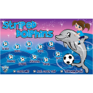Striped Dolphins Custom Vinyl Banner