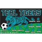 Teal Tigers Custom Vinyl Banner