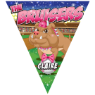 The Bruisers Triangle Individual Team Pennant