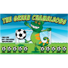 The Green Chameleons Custom Vinyl Banner
