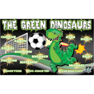 The Green Dinosaurs Custom Vinyl Banner