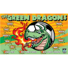 The Green Dragons 1 Custom Vinyl Banner