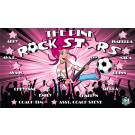 The Pink Rock Stars Custom Vinyl Banner