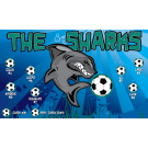 The Sharks (Green) Custom Vinyl Banner