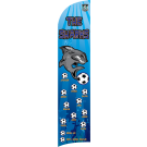 The Sharks (Blue) Custom Double-Sided Team Wind Flag
