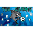 The Sharks 5 Custom Vinyl Banner