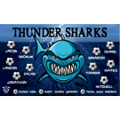 Thunder Sharks Custom Vinyl Banner