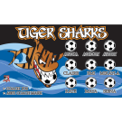 Tiger Sharks (Orange) Custom Vinyl Banner