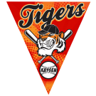 Tigers Triangle Individual Team Pennant