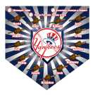 Yankees (Alternate) Home Plate Individual Team Pennant