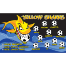 Yellow Sharks Custom Vinyl Banner