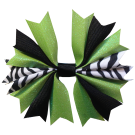 Zebra Black and Lime Ponytail Holder