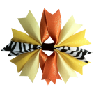 Zebra Orange and Yellow Ponytail Holder