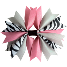 Zebra Pink and Silver Ponytail Holder