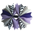 Zebra Purple and Silver Ponytail Holder