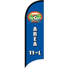 AYSO Area 11-L South Orange County Custom Double-Sided Team Wind Flag
