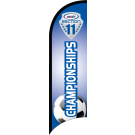 "AYSO Section 11 ""Championships"" Custom Double-Sided Team Wind Flag"
